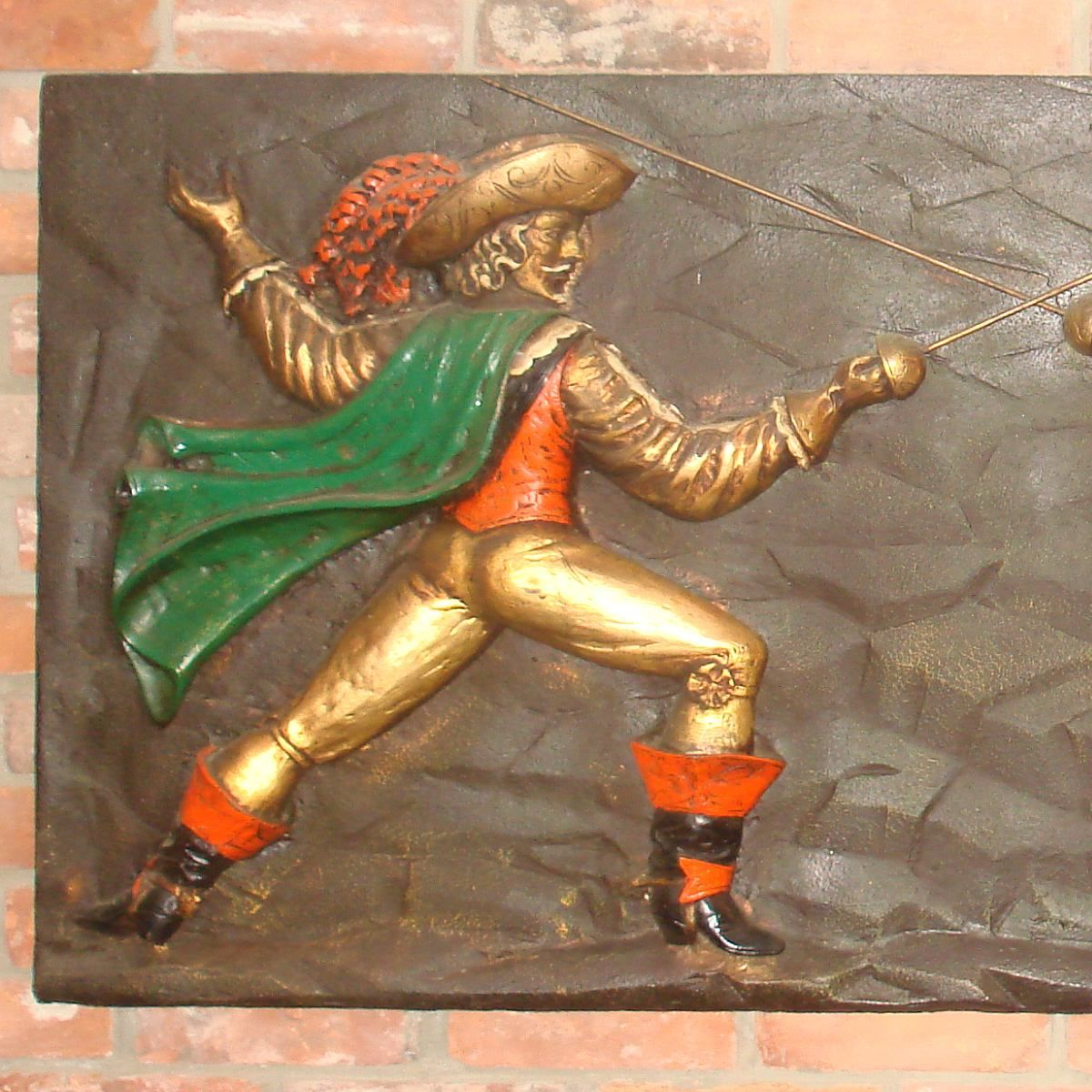 Sword Wall Plaques Finesse Fiberglass Relief 3d Wall Plaque Spanish Musketeer