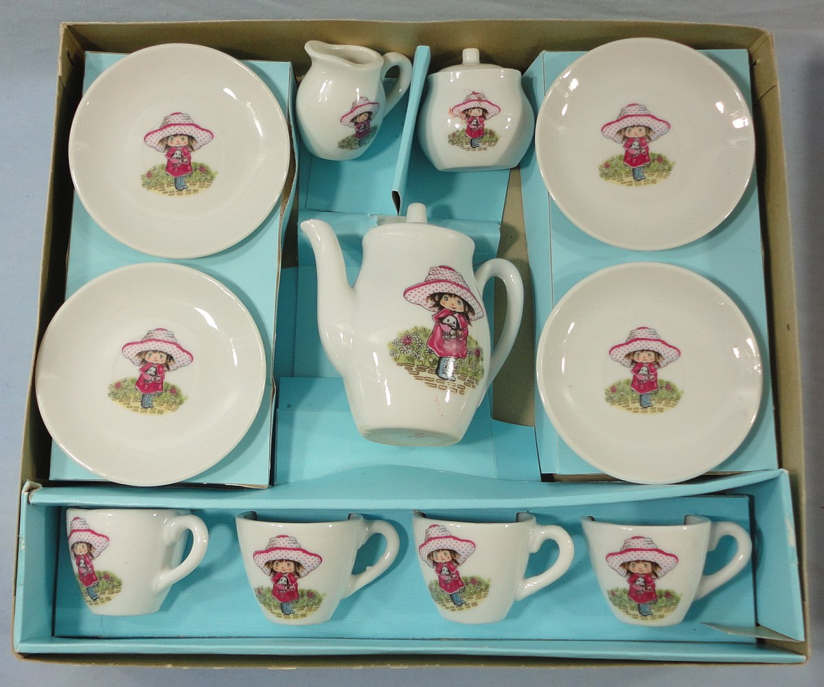 Tea Set Toy Details About Toy China Tea Set Made In Japan Cups Saucers Creamer Sugar Bowl Coffee Pot Boxed
