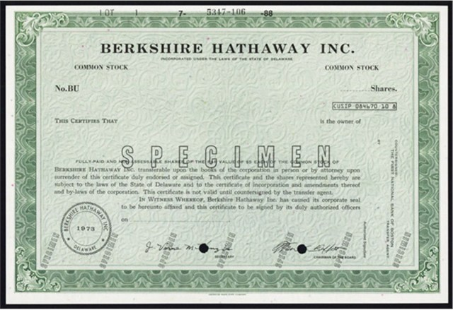 berkshire hathaway stock certificate WHY IS BERKSHIRE HATHAWAY STOCK SO EXPENSIVE