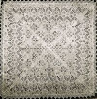 Vintage heirloom shetland lace baby christening shawl ...
