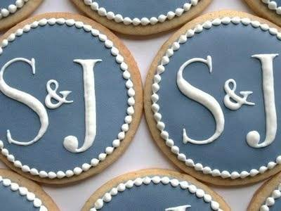 Wedgewood blue iced biscuits