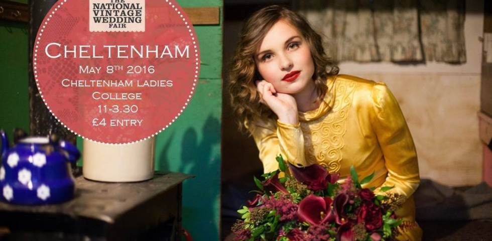 Cheltenham 1930s vintage poster for The National Vintage Wedding Fair