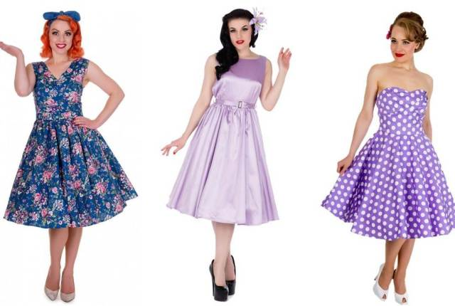 Vintage style bridesmaid dresses from Lucilles as featured on The National Vintage Wedding Fair blog