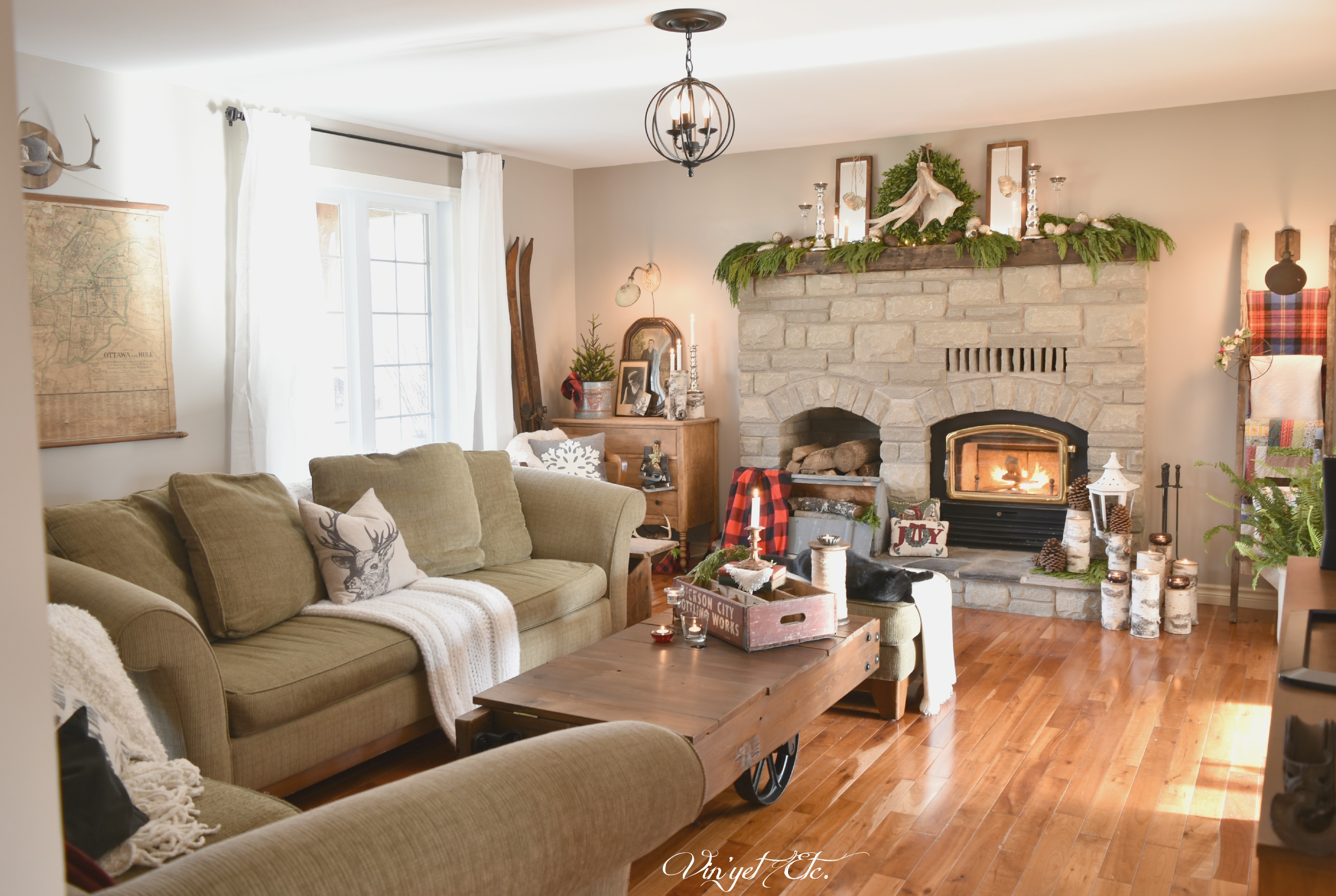 Farmhouse Rustic Fireplace Mantel Decor Rustic Farmhouse Christmas Mantel Home For The Holidays
