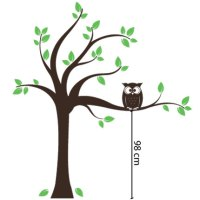 Tree with Owl Wall Decal - Kids - wall decals