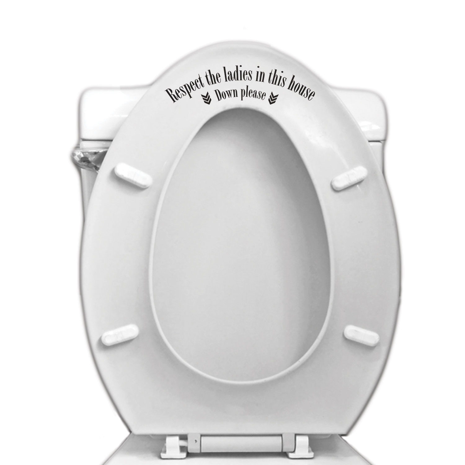 Sticker Voor Badkamer Respect The Ladies Toilet Seat Vinyl Decal For Bathroom