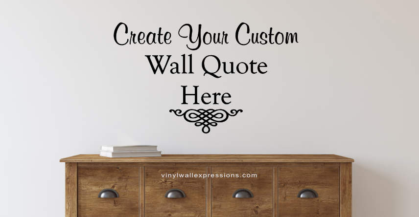 Custom Wall Quotes and Vinyl Lettering Decals\u2022Vinyl Wall Expressions - word design frames