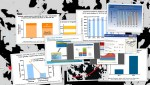 Pictured is a collage of graphs depicting the concept of Big Data.