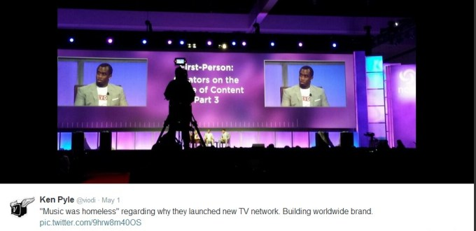 Sean Combs at the 2014 Cable Show discussing his cable network RevoltTV.