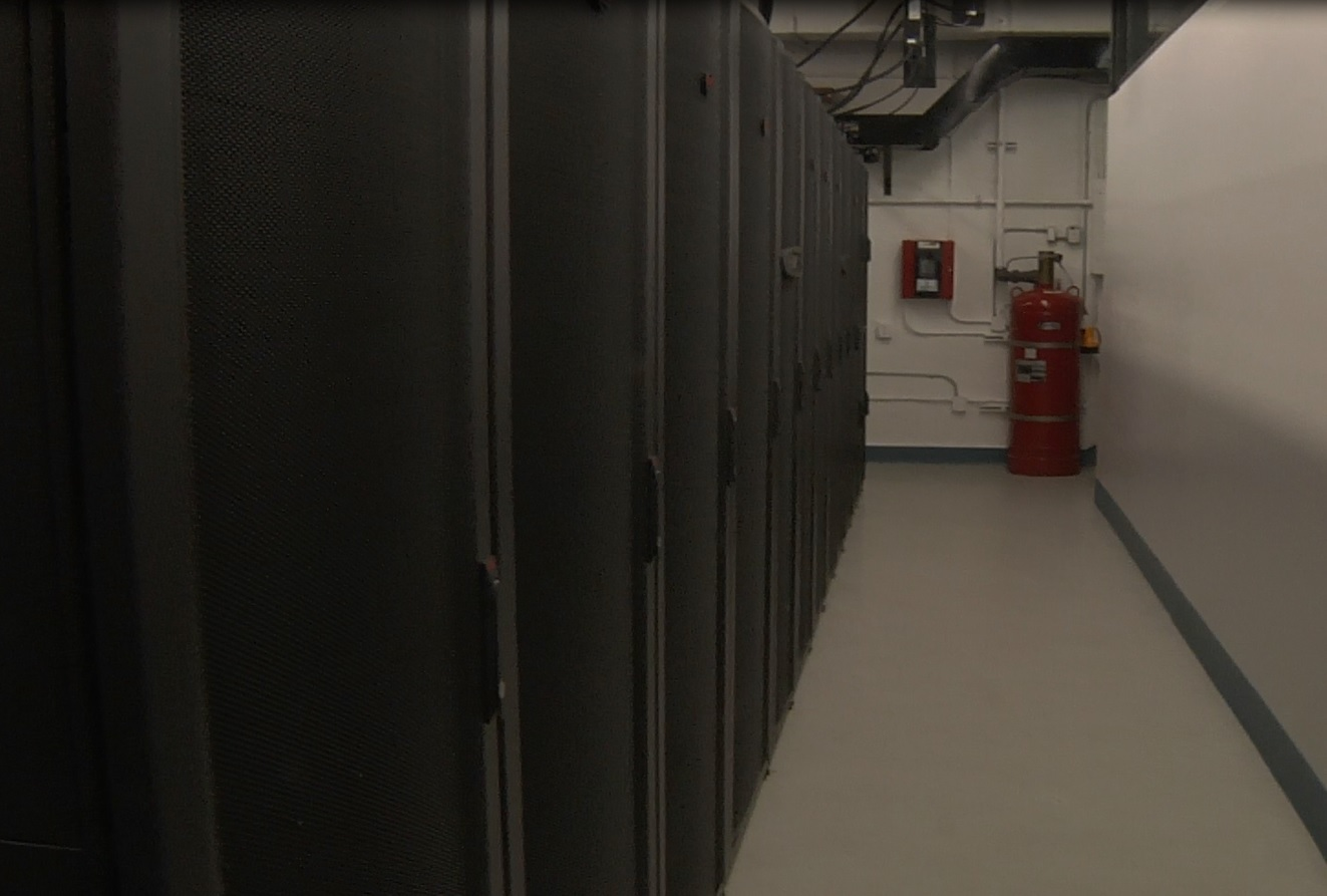 Inside a typical data center.