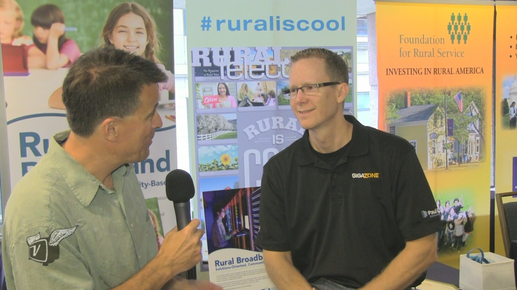 Ken Pyle interviews Paul Bunyan Communications' Gary Johnson at the 2014 NTCA Annual Meeting.