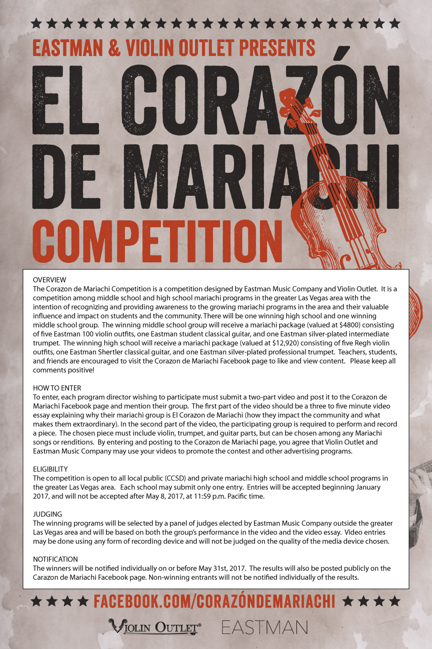 Poster Judging Form Corazon De Mariachi Competition 2017 Violin Outlet