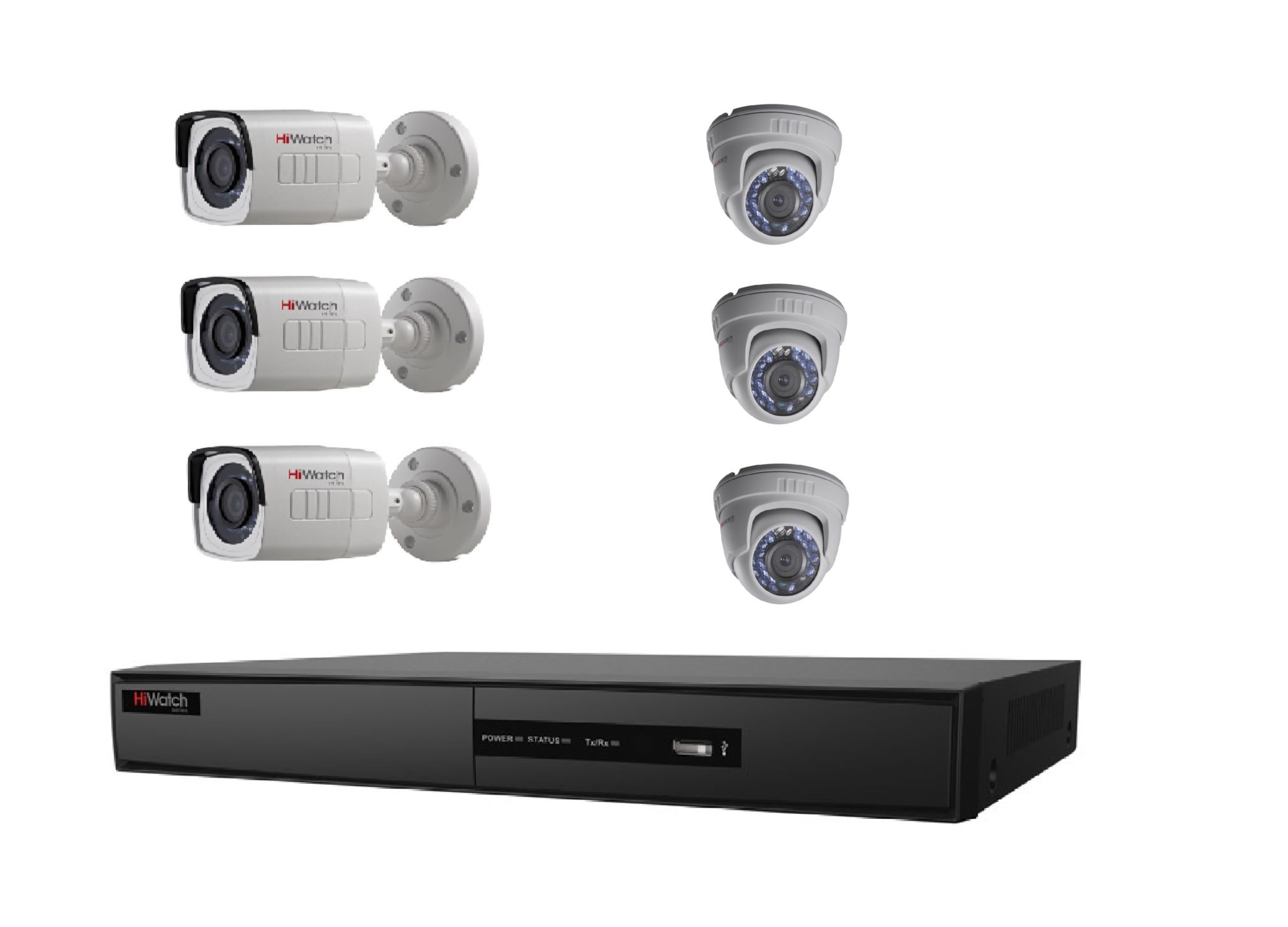 Diy Home Security Cameras Reviews Diy 6 Cctv Camera Package Hiwatch By Hikvision Vip 360