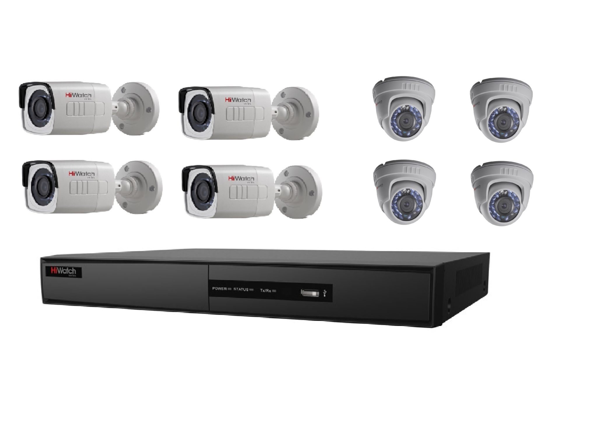 Diy Home Security Camera Reviews Diy 8 Cctv Camera Package Hiwatch By Hikvision Vip 360