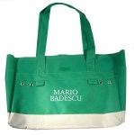 Canvas Color Blocked Cosmetics Tote