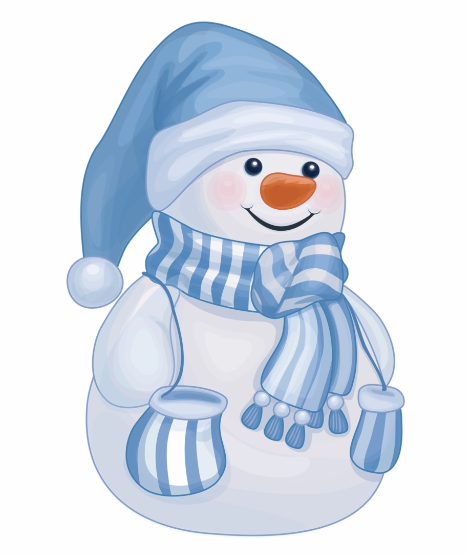 Snowmen Cute Blue Snowman Clipart Transparent Png Download 979150 Vippng