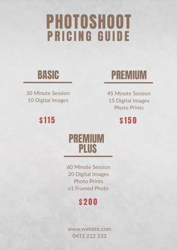 Design a Price List Online Free Price List Templates by Desygner
