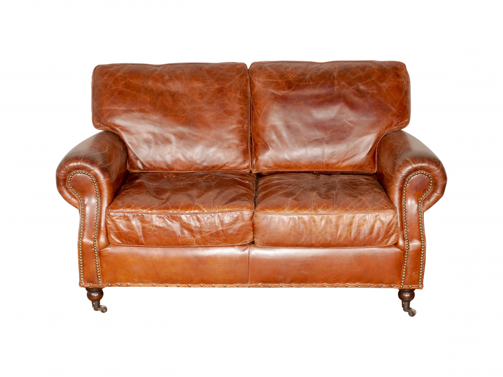 Vintage Brown Leather Sofas For Hire Weddings Events London Reading South East