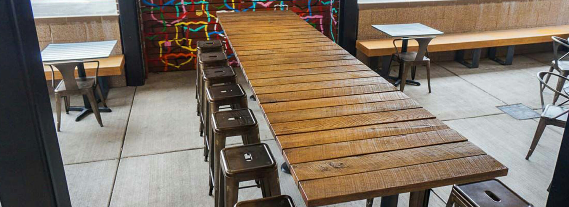 Reastaurant Tables Reclaimed Wood Restaurant Tables Viridian Wood