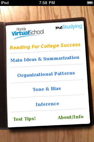 Review of iPhone/iPad App \u2013 meStudying Reading for College Success - college success tips