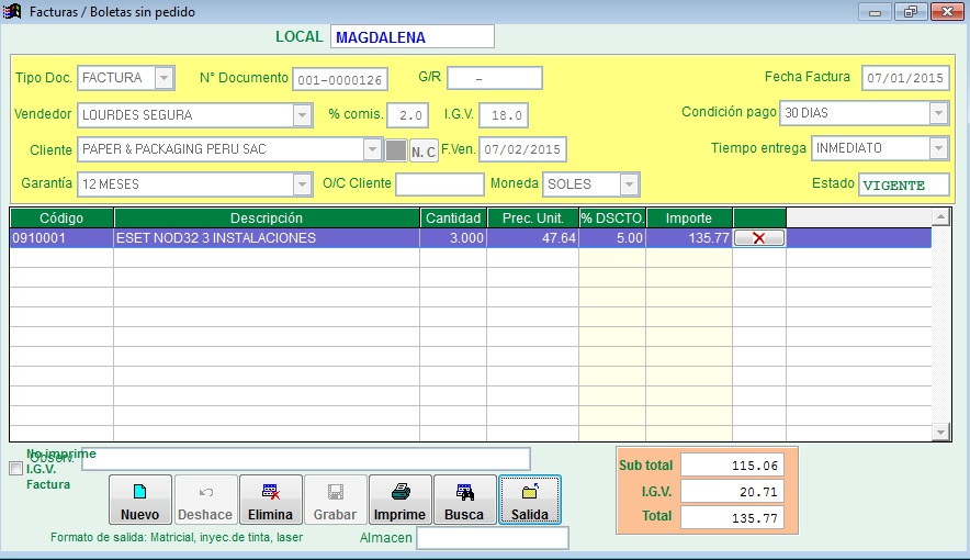 Virtualsoft Perú - Software para almacen Sistema de punto de venta