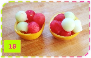 Taça de salda de frutas
