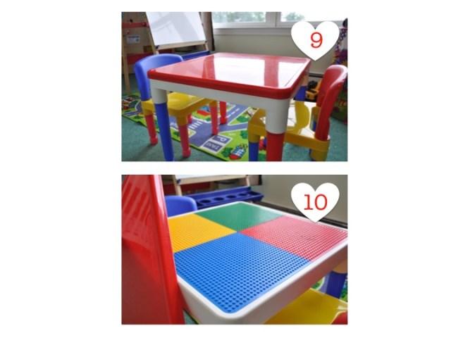 Mesa para criança com lego