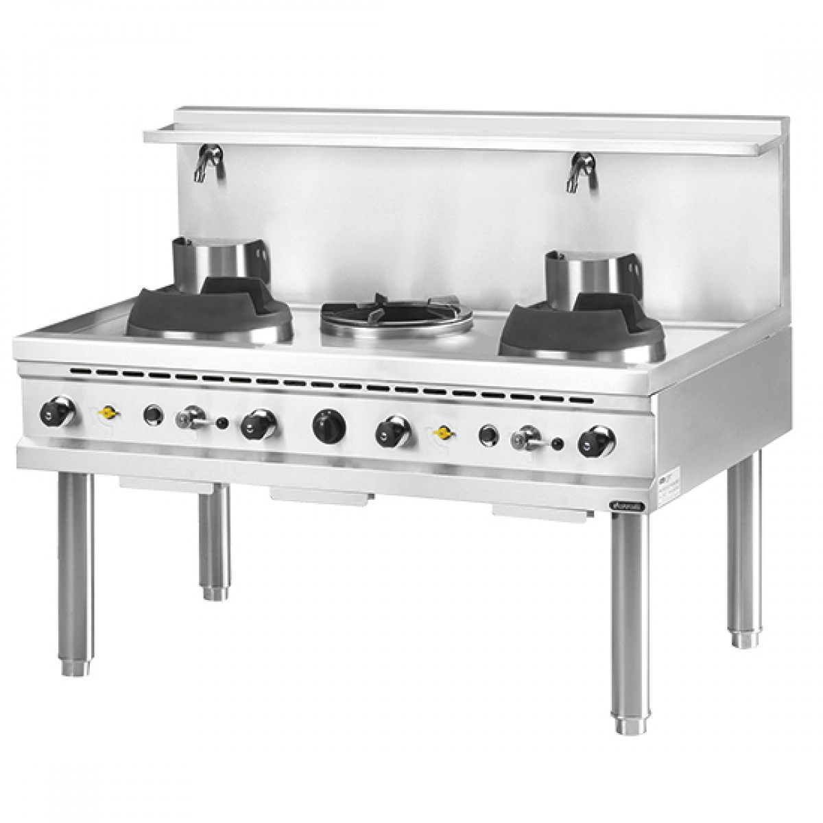 Cucina Wok Gas Wok Hob 2 Burners 1 Soup Burner 2 Water Taps