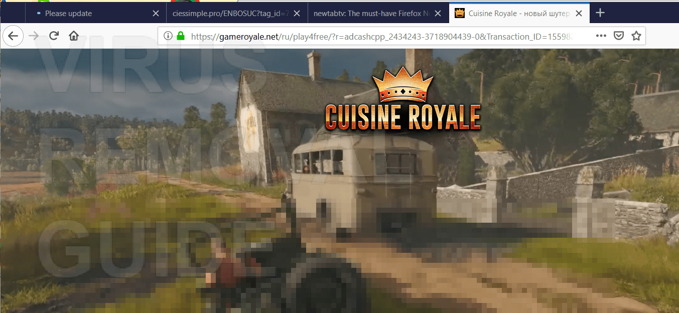 Cuisine Royale Install Gameroyale Pop Ups How To Delete