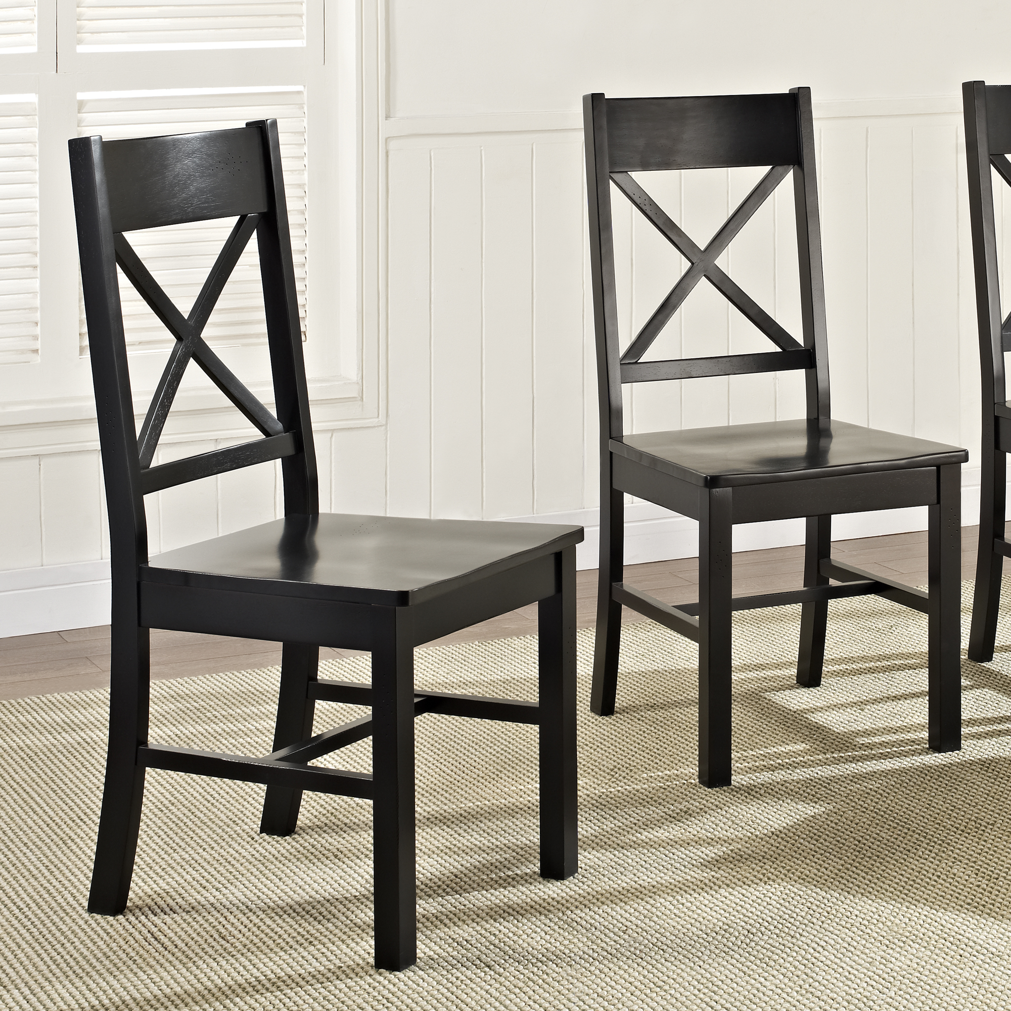 Antique Kitchen Chairs Wood Details About Antique Black Wood Dining Kitchen Chairs Set Of 2