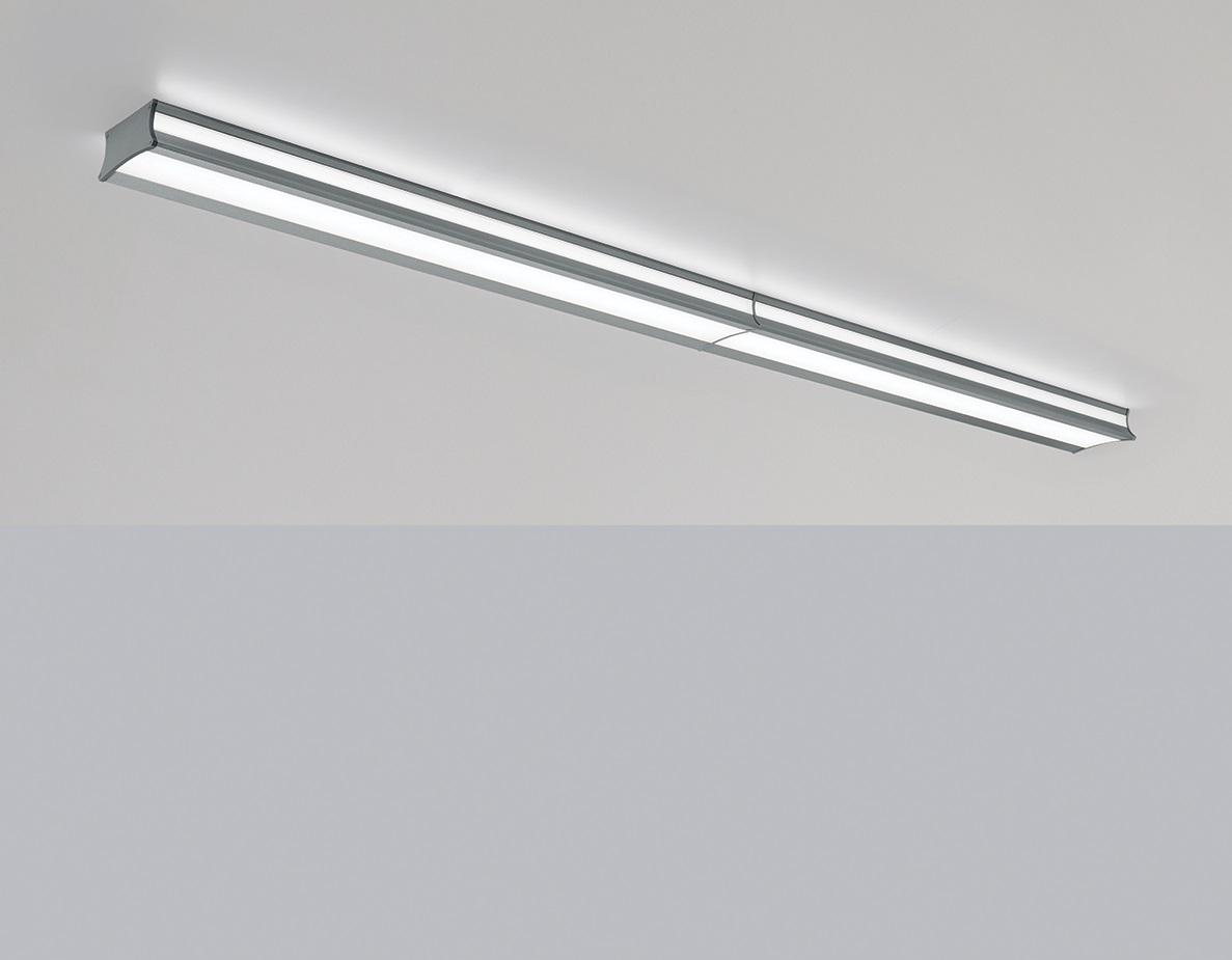 Luminaire Lighting Latitude Linear Surface Mounted Indirect Direct Luminaire Visa