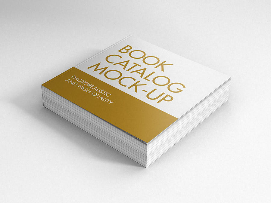 Free Mockup Psd Envelope Book / Catalog Mock Ups Square - Premium And Free Mockups