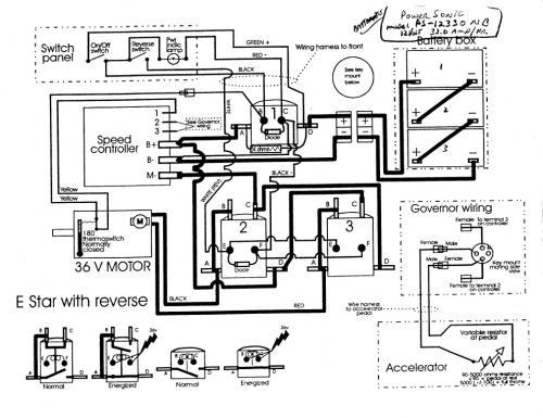 92 ezgo golf cart 36 volt wiring diagram