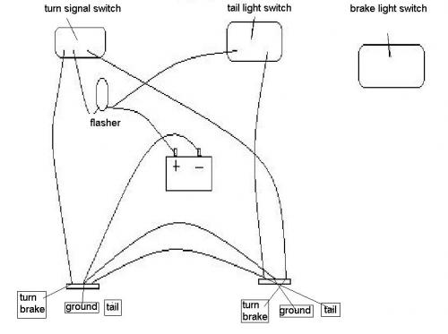 brake light turn signal wiring diagram led