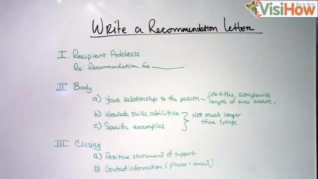 Write a Recommendation Letter - VisiHow