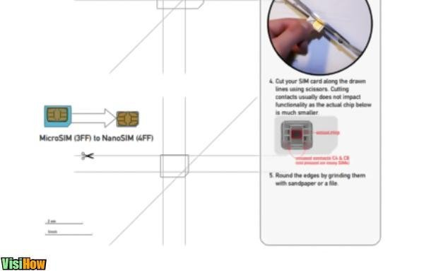 Cut Your Own Nano SIM for iPhone 5 - VisiHow - micro sim template