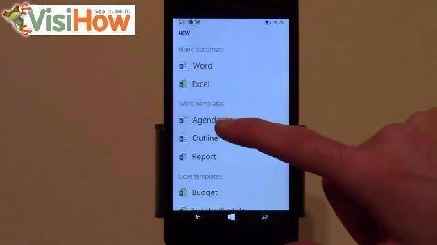 Create an Agenda and Edit it in Office Using Microsoft Lumia 535