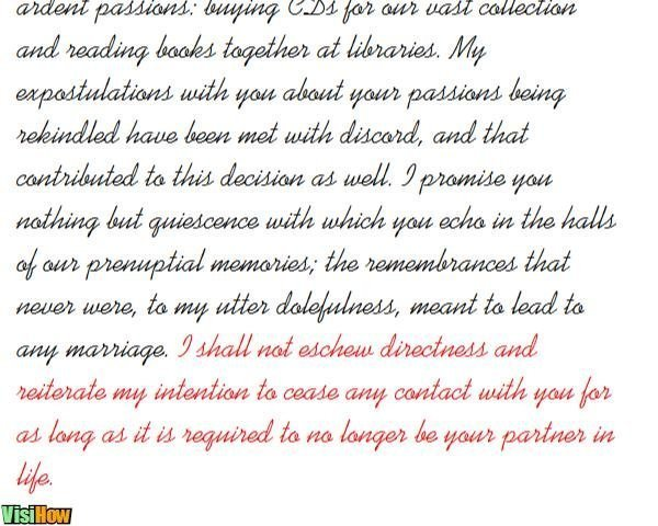 Write a Breakup Letter - VisiHow