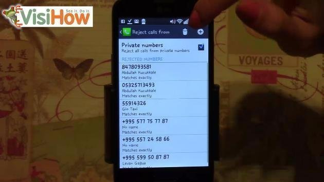 Remove a Phone Number from Reject List on LG L70 - VisiHow