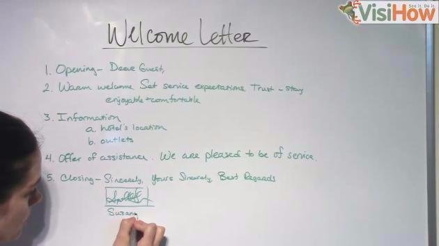 Compose a Welcome Letter for Your Hotel or Hospitality Guest Room