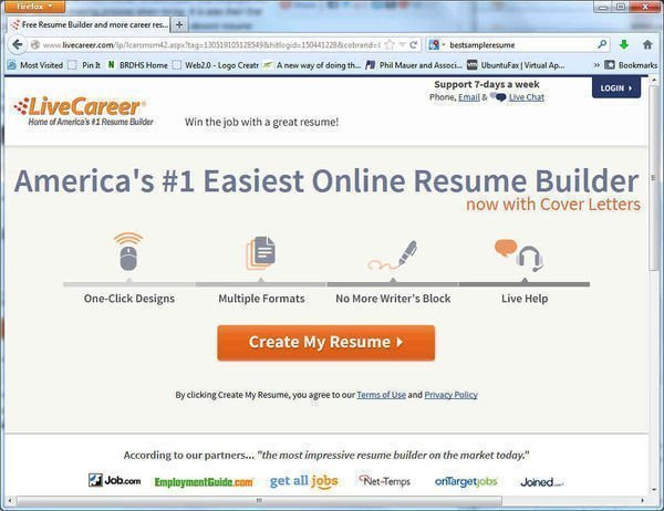 Build a high quality free resume with LiveCareer\u0027s free resume