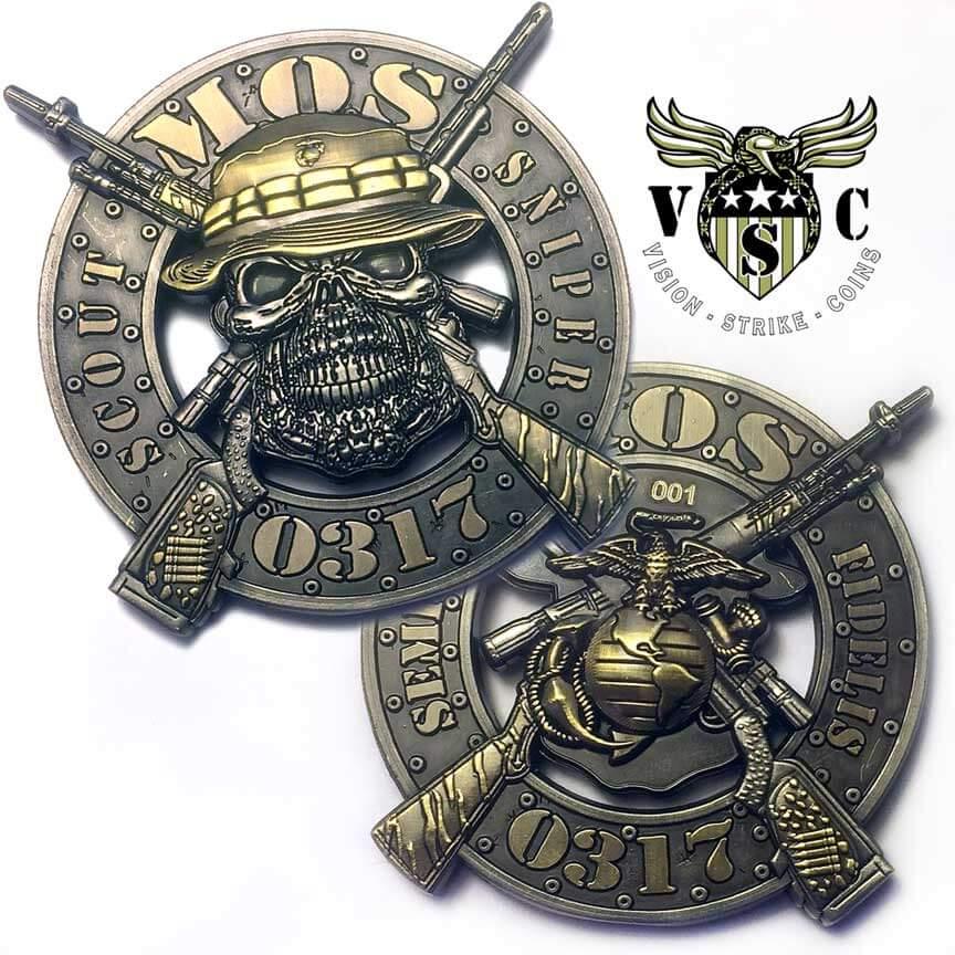 USMC MOS 0317 Scout Sniper Coin