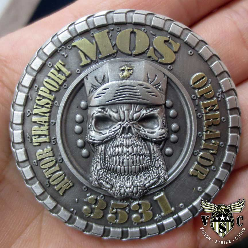 Motor Transport Operator 3531 MOS Marine Corps Challenge Coin