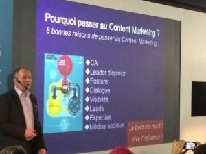 Intervention de Frédéric-Michel Chevalier au Web2Connect 2014 - Le Marketing de contenu : eldorado du web des 5 prochaines années