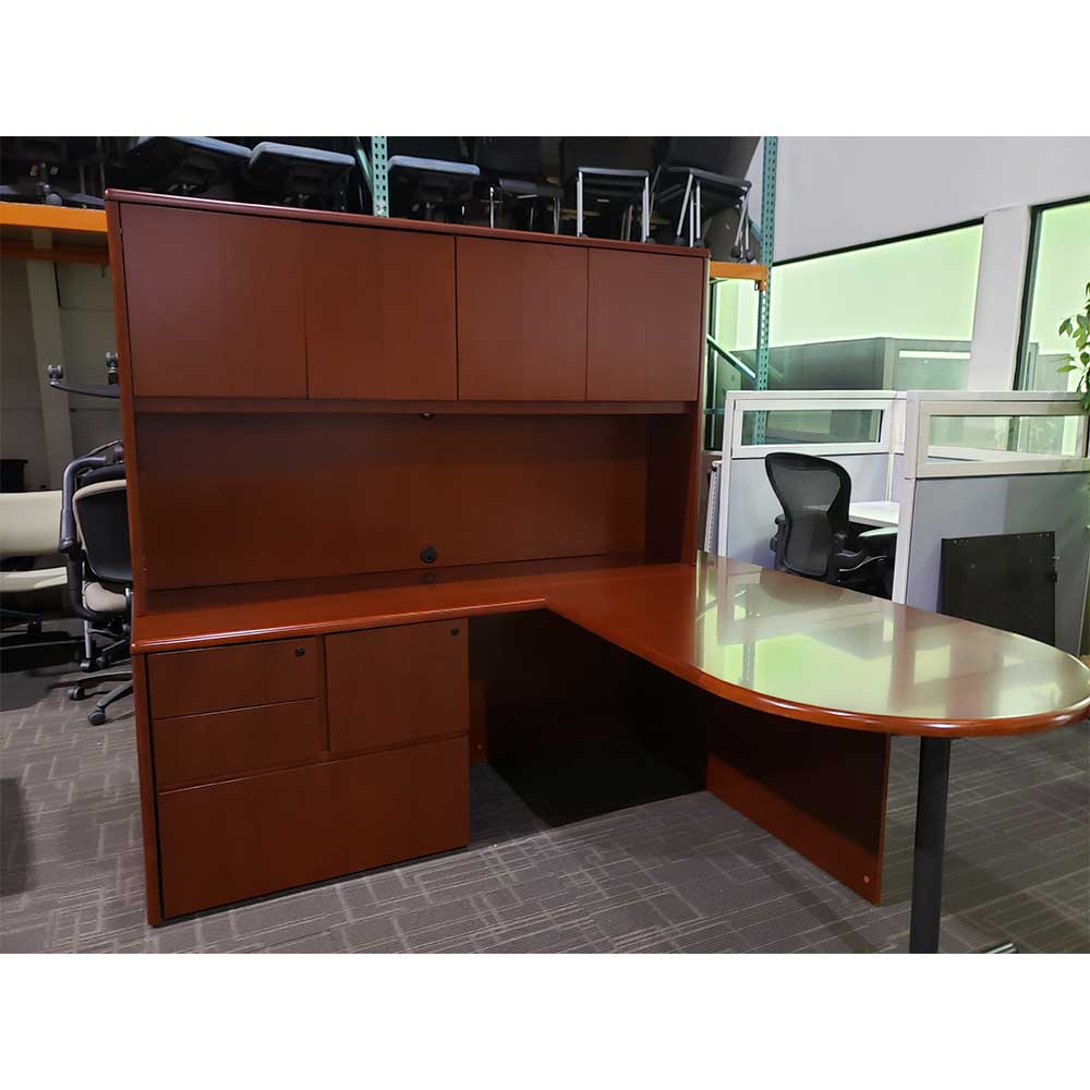 Desk With File Cabinet Used L Shaped Desk With Hutch And File Cabinet