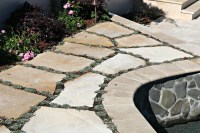 Sand-Set Flagstone Patio  Visions Landscaping and Design Inc.