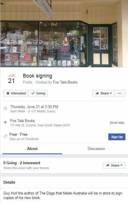Cooma Visitors Centre - Book Signing Fox Tale Books Cooma 21st June