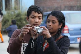 Suman (left) and Karishma (right) in action.