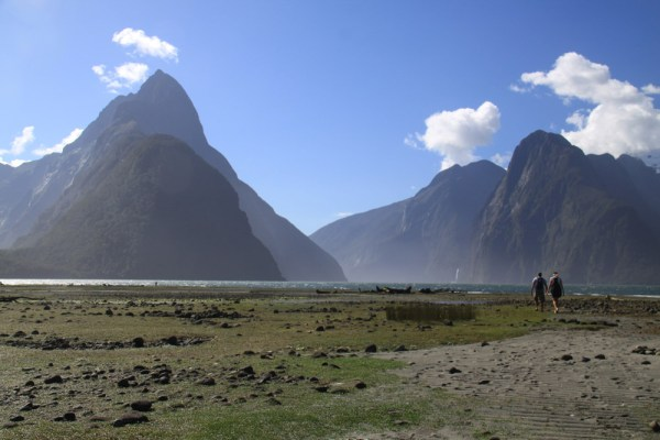 Walking into Middle Earth, Milford Sound, New Zealand.