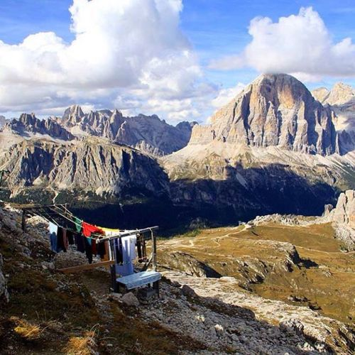 A great spot to hang your washing..From the archives: Dolomites, Italy - September 2010....#guardiantravelsnaps #bbctravel #lonelyplanet #lonelyplanetitaly #festival #wanderlust #explore #travelphotography #visitedplanet #iloveitaly #worldtraveller #traveleverywhere #exploretheworld #traveltheworld #opentheworld #instatravel #fromwhereyoudratherbe #wonderful_places #beyourbucketlist #betheadventure #lonelyplanettraveller #natgeotravel #igtravel #dolomites #washing #mountains - from Instagram